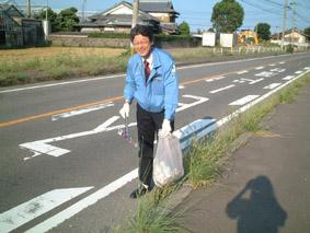 この日も絶好のお散歩日和で、暑くもなく、寒くもなく、ゴミ拾い日和(?!)とあいなりました。