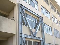 香椎第2中学校様 校舎耐震改修工事2